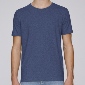 camiseta-ecologica-hombre-azul-lisa
