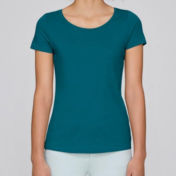 camiseta-ecologica-mujer-azul-lisa