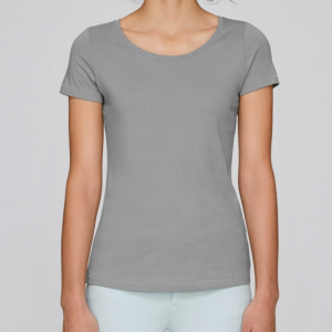 camiseta-ecologica-mujer-gris-lisa