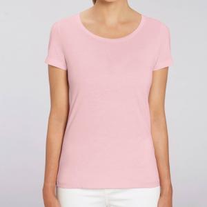 camiseta-ecologica-mujer-rosa-lisa