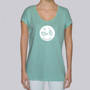 camiseta-ecologica-mujer-verde-bicicleta