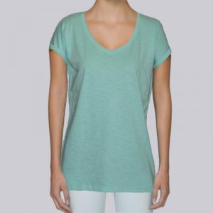 camiseta-ecologica-mujer-verde-lisa