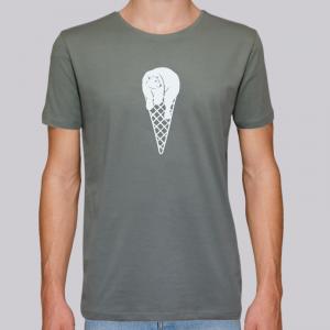 camiseta-ecologica-hombre-verde-cucurucho