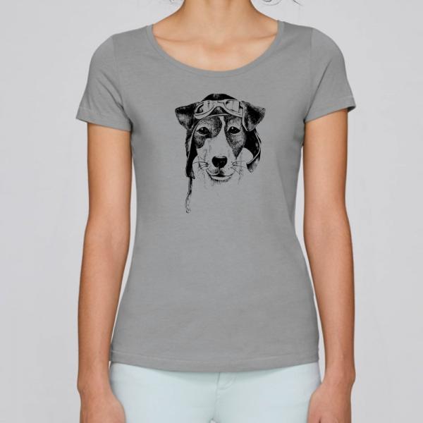 camiseta-ecologica-mujer-gris-perro