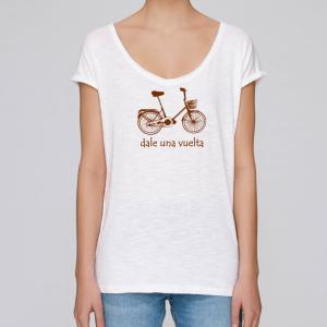 camiseta-ecologica-mujer-blanca-bicicleta