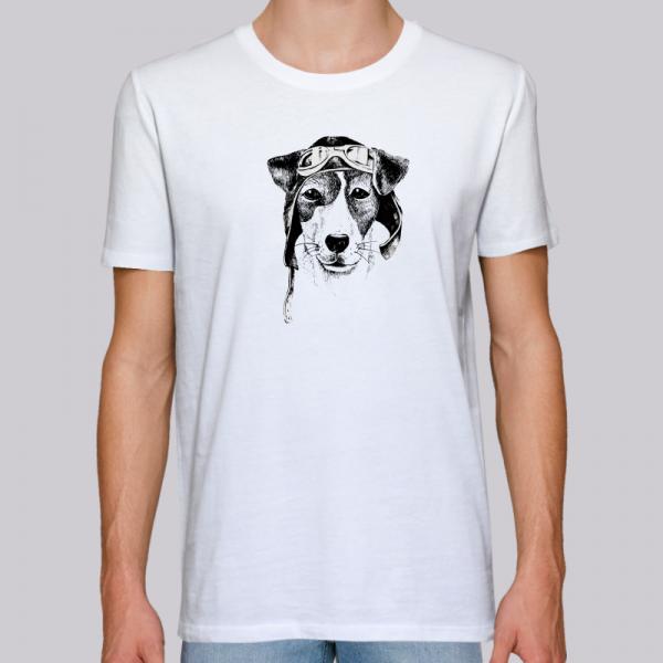 camiseta-ecologica-hombre-blanca-perro