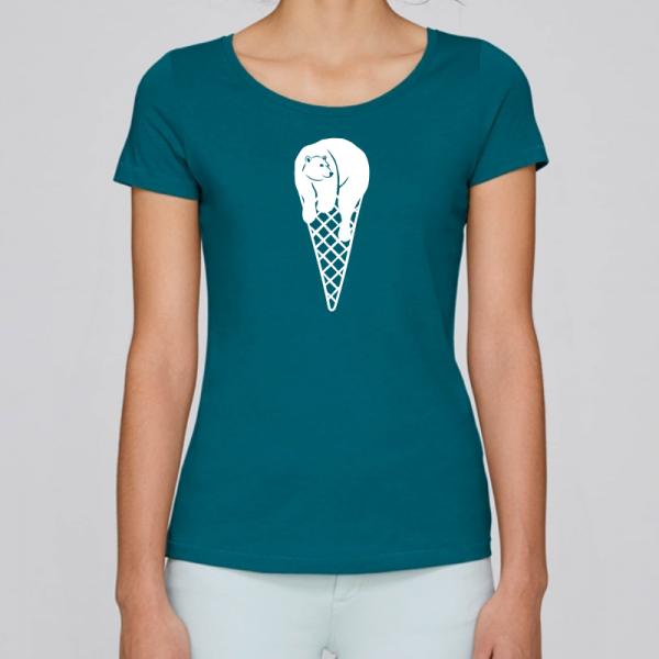 camiseta-ecologica-mujer-azul-cucurucho