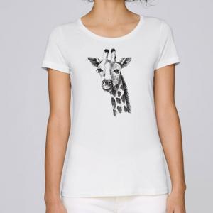camiseta-ecologica-mujer-blanca-jirafa