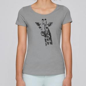 camiseta-ecologica-mujer-gris-jirafa