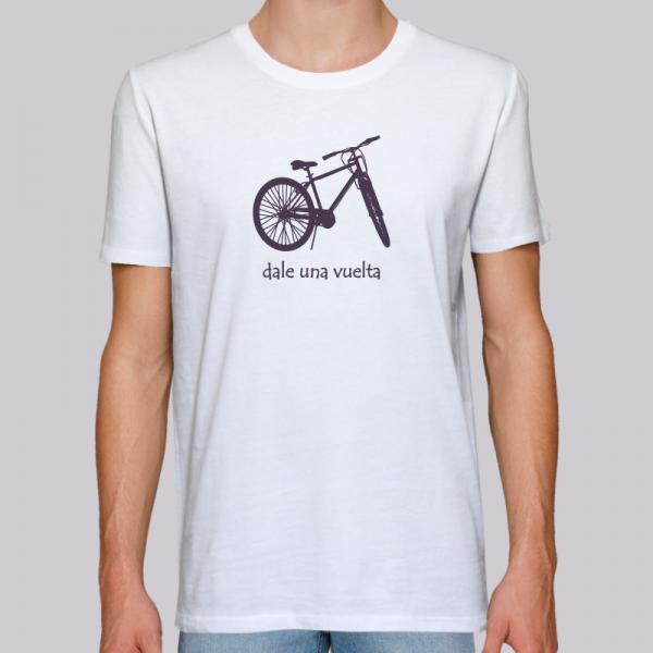 camiseta-ecológica-hombre-blanca-bicicleta