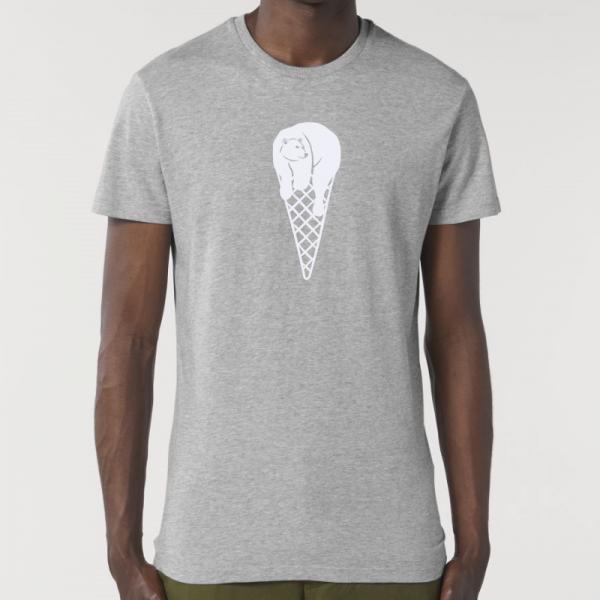 camiseta-ecologica-hombre-gris-cucurucho