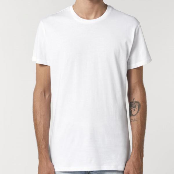 camiseta-ecologica-entallada-blanco-lisa